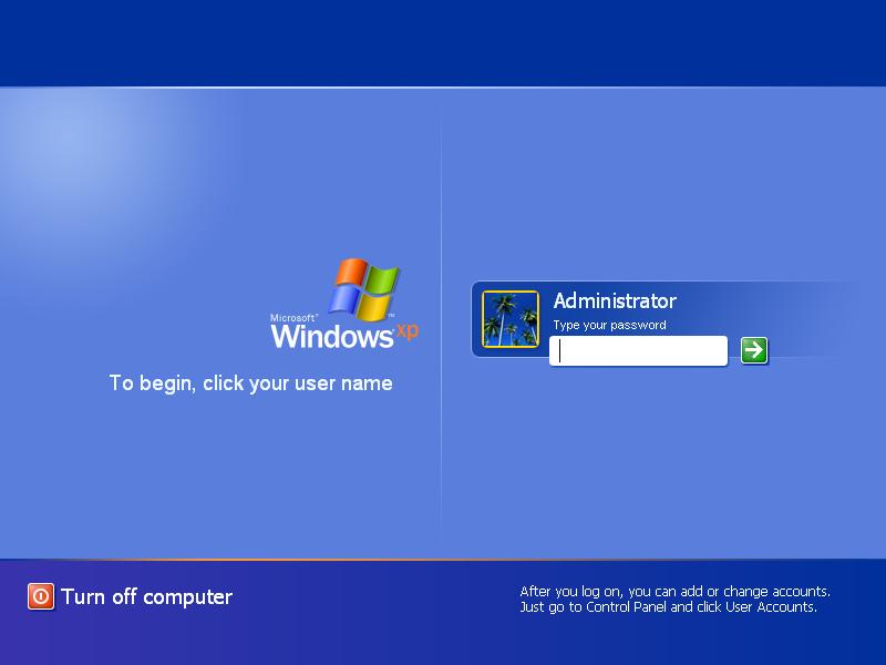 how to bypass windows xp login password