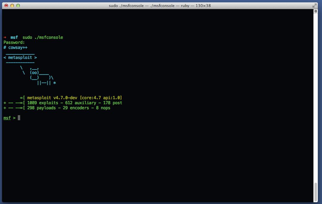 Photo of Tutorial – Installing Metasploit on Mac OS X