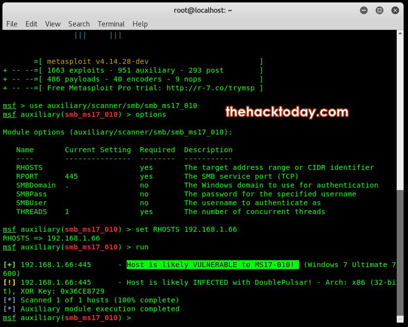 Photo of Exploit Windows PC Using EternalBlue-DoublePulsar on Metasploit