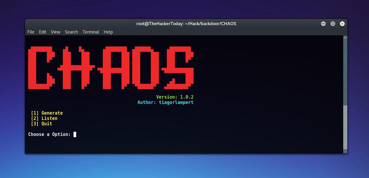 Hacking Windows 10 using CHAOS Framework 100% FUD