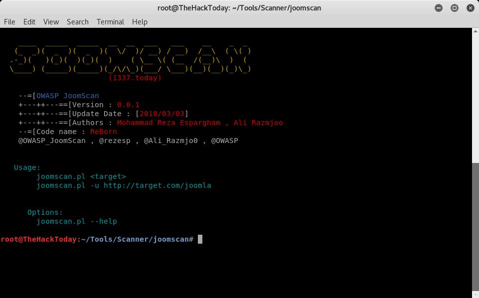 JoomScan - OWASP Joomla Vulnerability Scanner Project