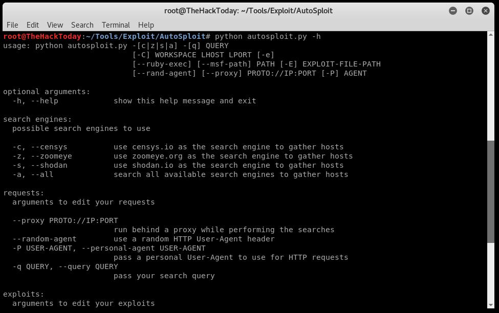 AutoSploit v2.0 - Automated Mass Exploiter