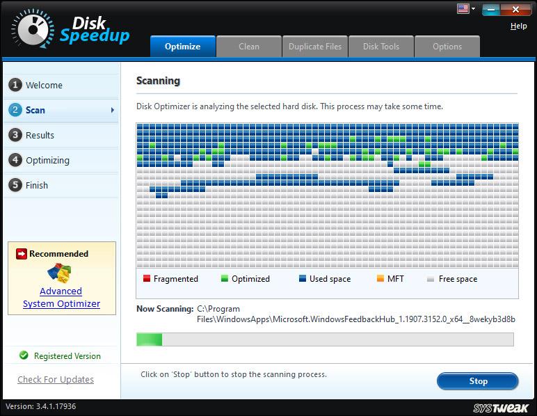 Disk Speedup by Systweak
